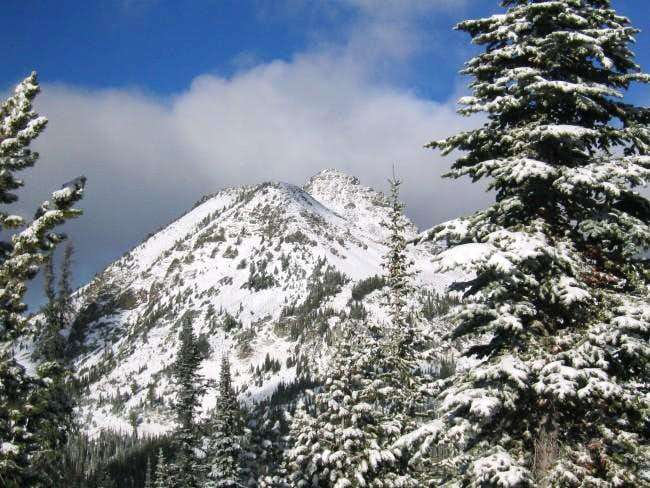 First view of Krag peak from...