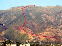 Layton Peak route