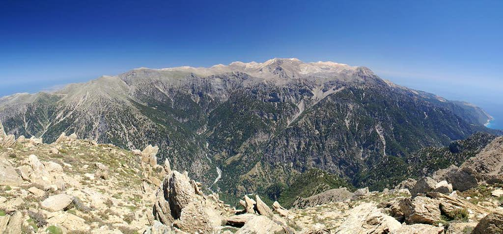 Summit View Volakias across the Levka Ori