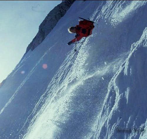 Skiing the Göll east face,...