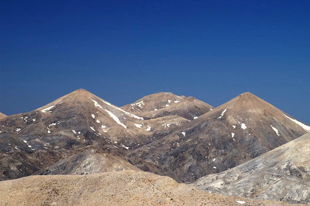 Ornio (2153m), Mavri (2069m) and Spahi (2046m)
