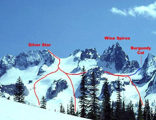 Silver Star Mountain, north side alternatives