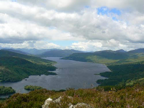 Loch Katrine from the summit of Ben A\'an