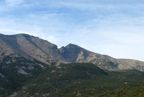 Wheeler Peak from the west on...