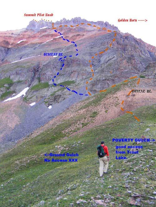 West Ridge Route up Pilot Knob