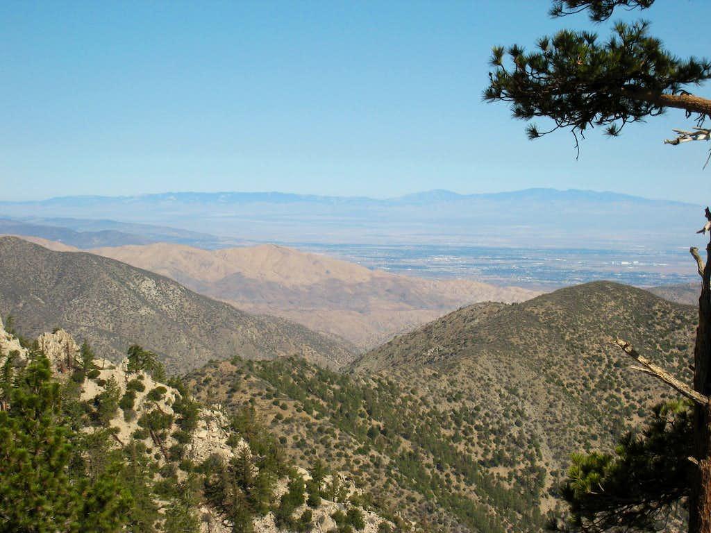 View NE from near summit of Winston Ridge (7,003')