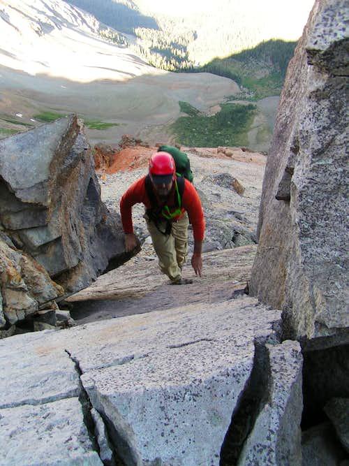 Interesting boulder section on..
