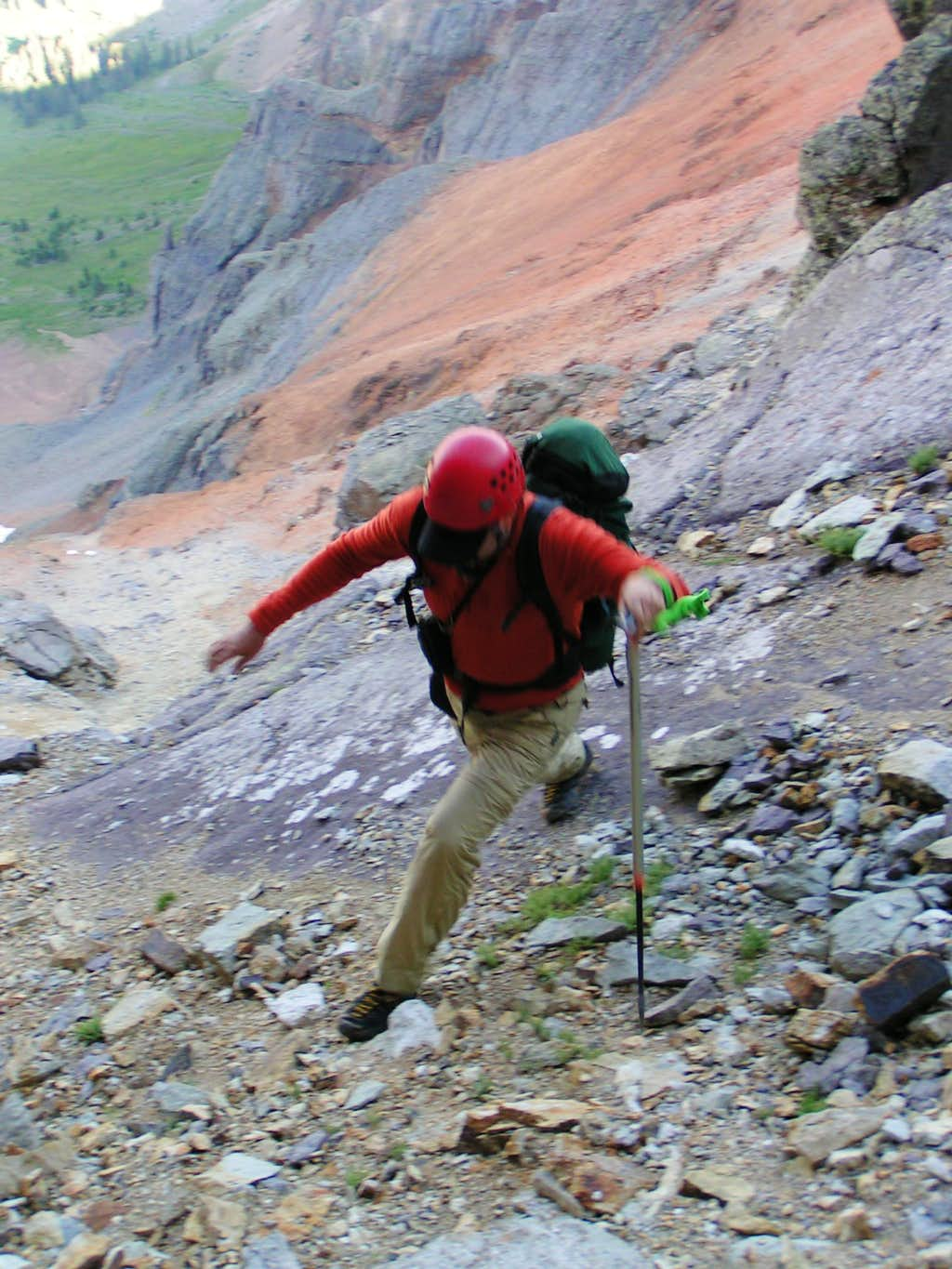 Jumping from Scree Cliffs