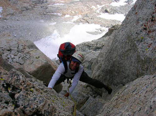 Top of pitch 5 BCS north arete