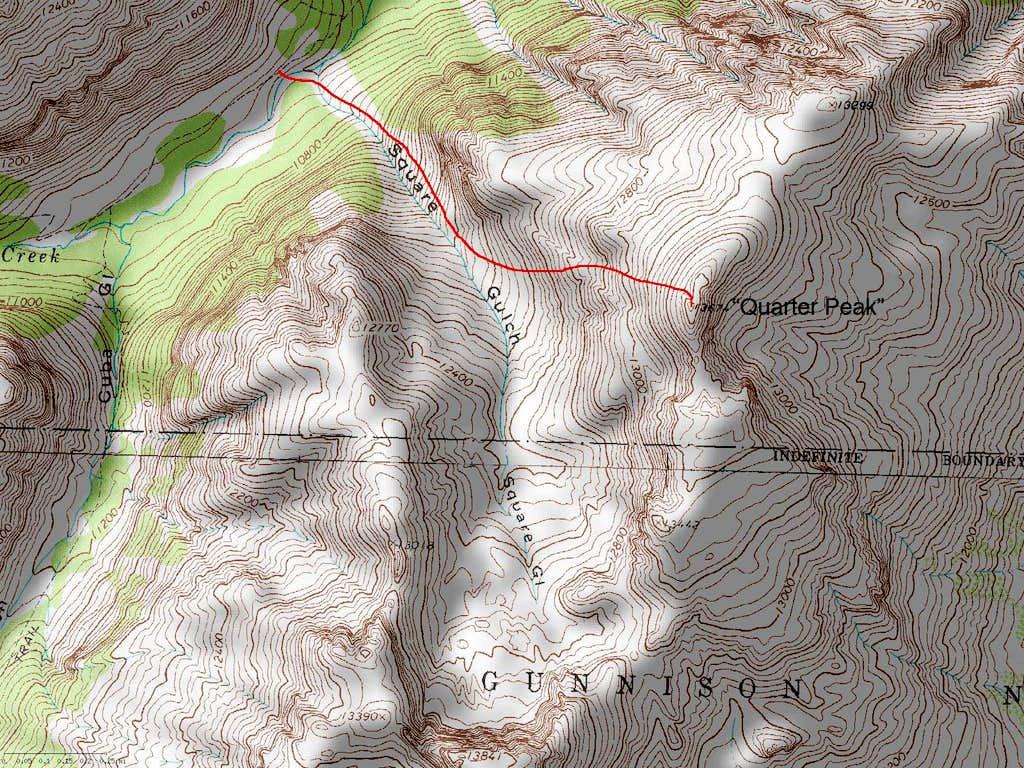 Quarter Peak's West Face Route