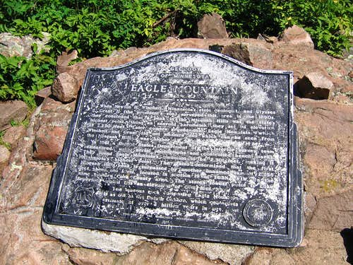 Eagle Mtn summit marker