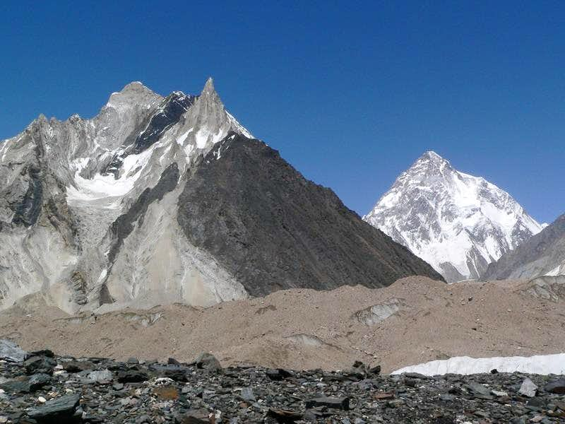 K-2 (8611-M) & Marble Peak, Karakoram, Baltistan