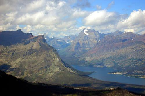 View into Glacier National Park