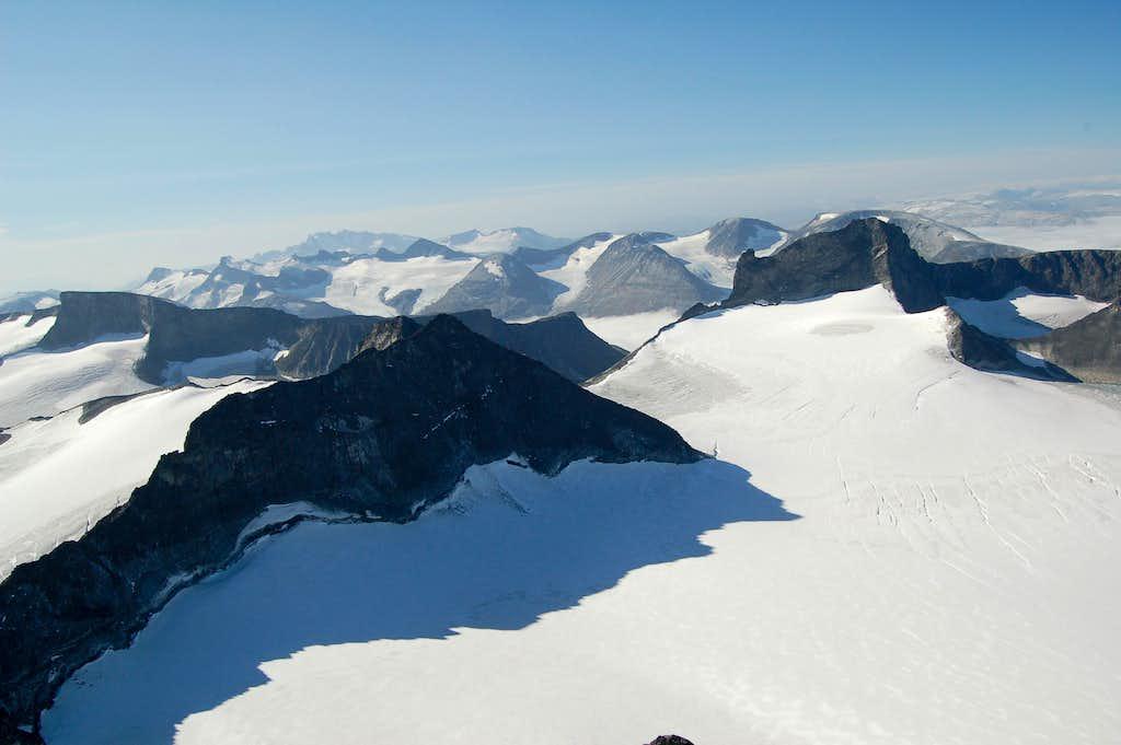 View West from Galdhøpiggen's Summit