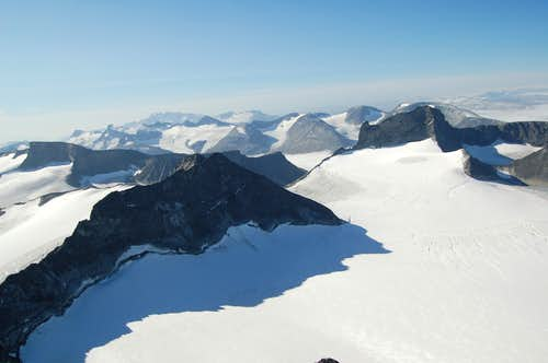 View West from Galdhøpiggen\'s Summit