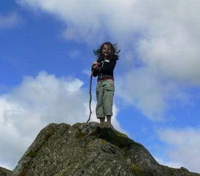 Lauren and her makeshift trekking pole..
