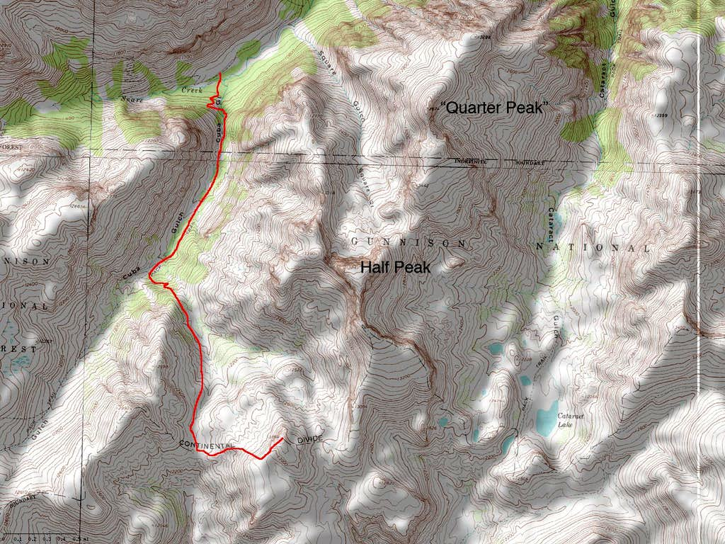 13164's West Ridge Route