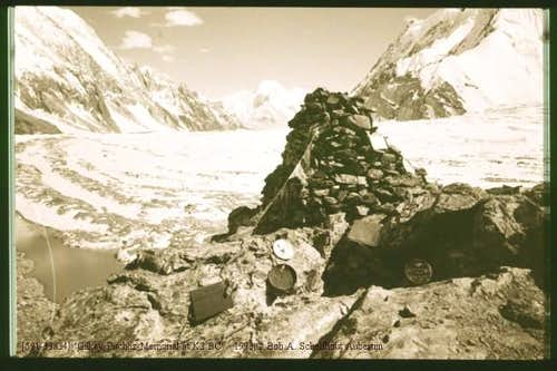 The memorial is as part of K2...