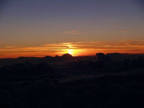 sunset on Aiguille du Gouter