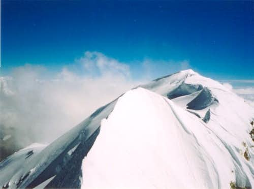 The true summit as seen from...