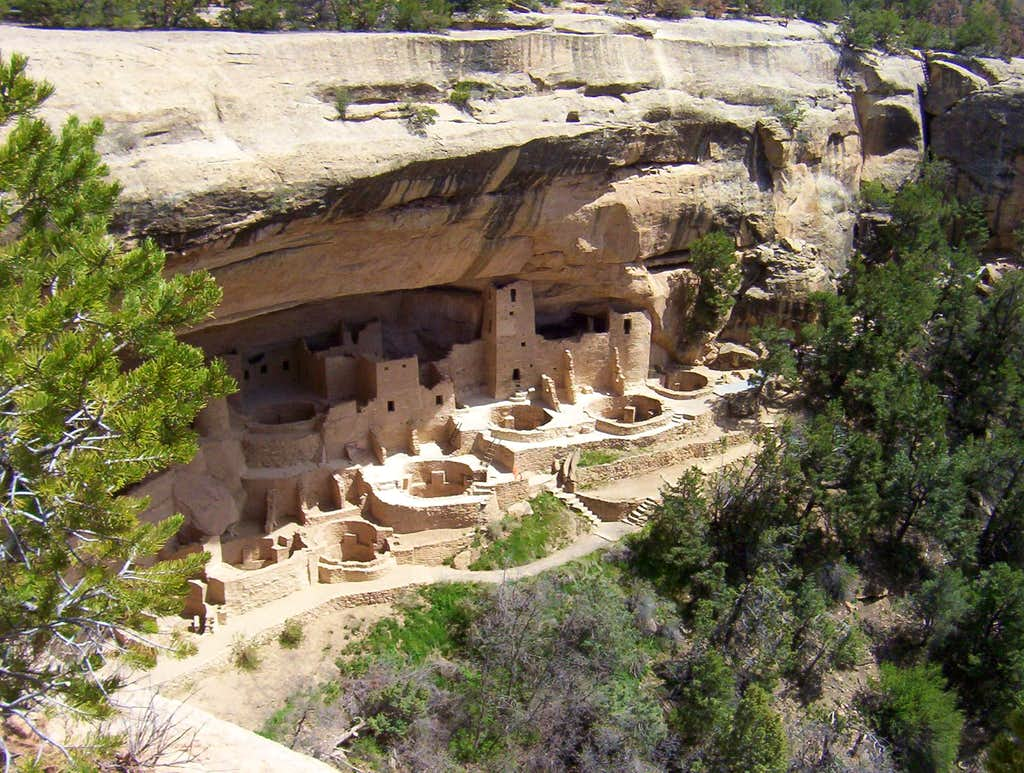 The Cliff Palace in Mesa Verde