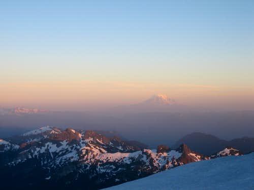 Sunset looking at Mt Adams