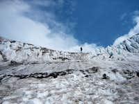 Looking up - Kautz Glacier