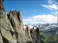 View back across the SE-ridge