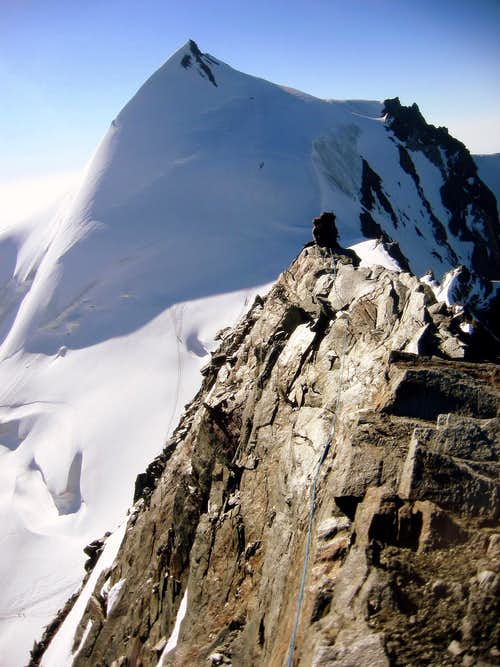 Feechopf summit scenery at Allalinhorn.