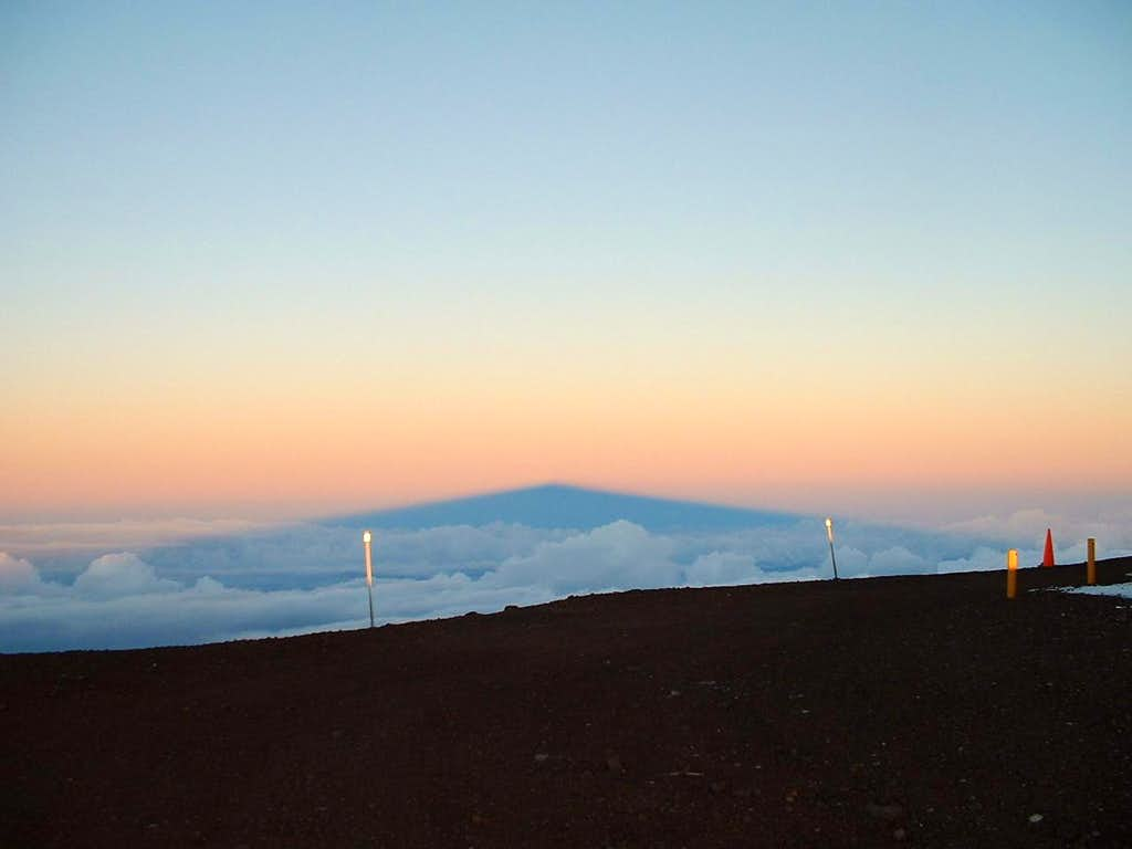 Shadow of Mauna Kea