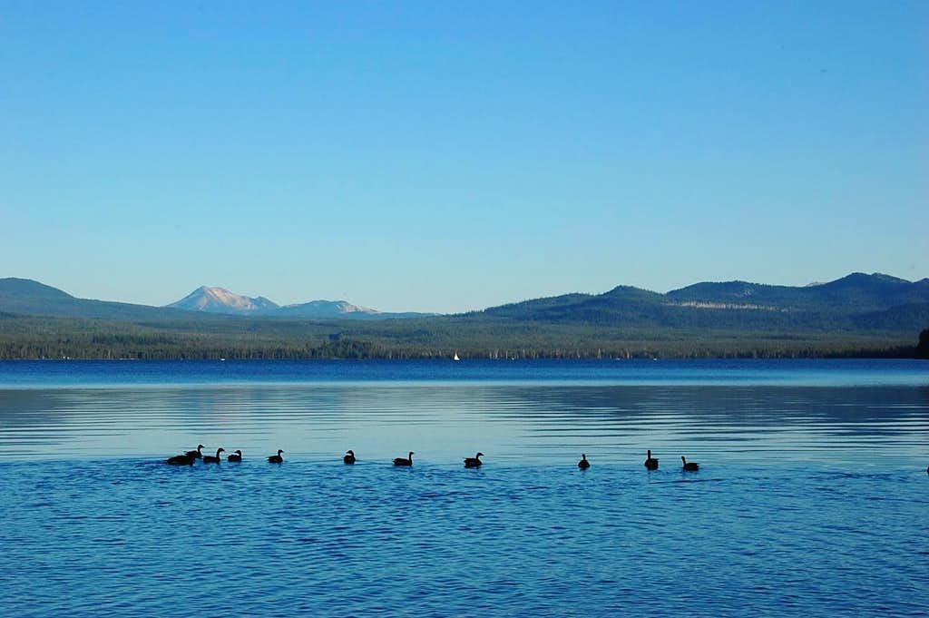 Mt. Scott on the left, from Diamond Lake