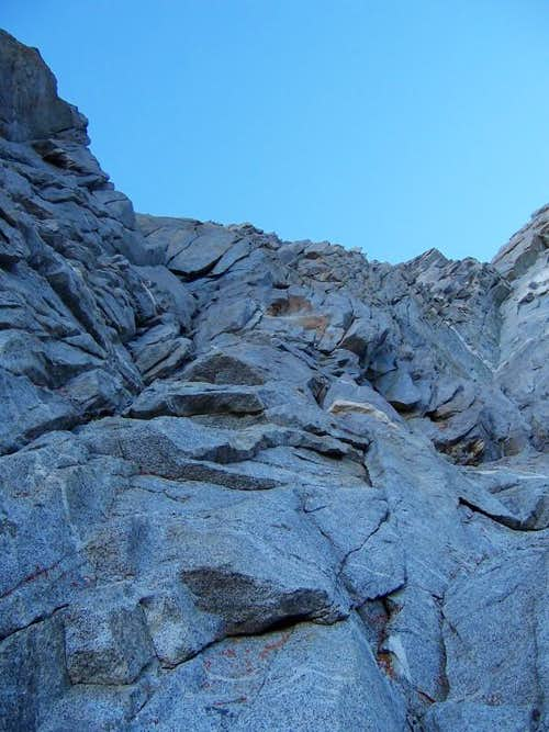 First pitch of West Arete