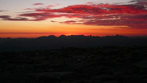 Sunset from Mt Whitney