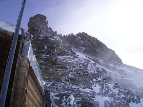 Matterhorn, Pic Tyndall, view from the Carrel Hut