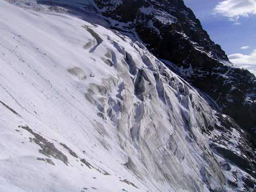 Matterhorn - glacier on the Carrel Route