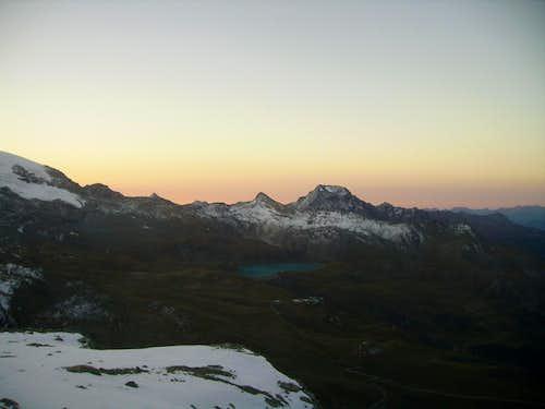 sunrise over Pennine Alps