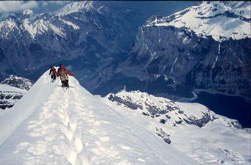 Doldenhorn. Leaving the top.....
