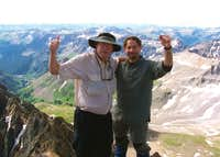 kilimanjaro1 and jeffrawn celebrate on Mt. Sneffels