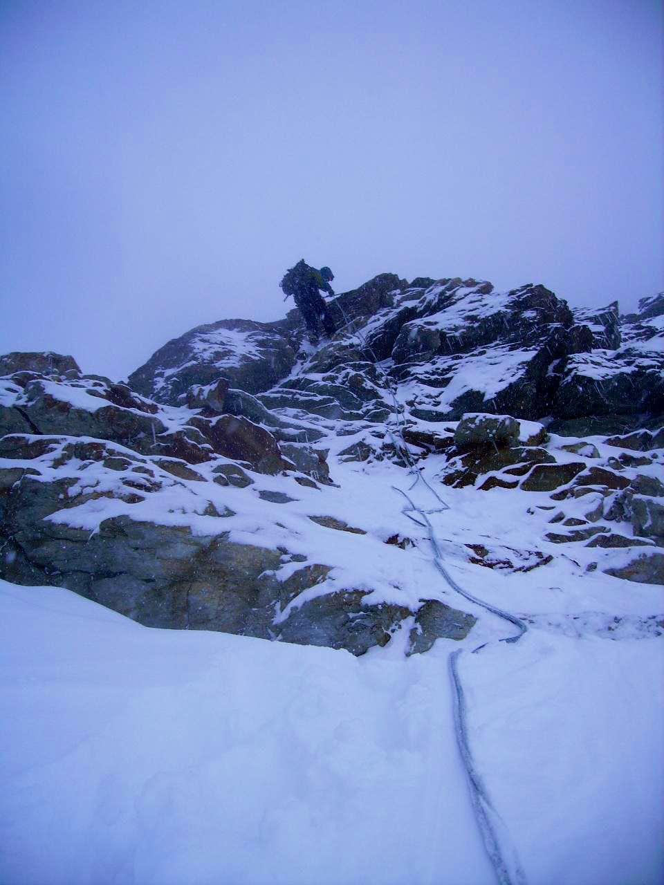 Matterhorn, rapelling on the Lion Ridge