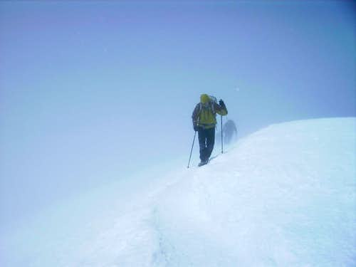Breithorn, approaching the summit