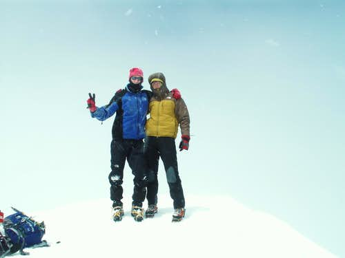 Breithorn, on the summit