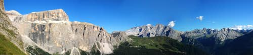 Panorama from Sella Pass
