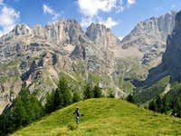 Marmolada south side: the Conturina\'s Song