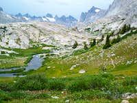 Titcomb Basin in July