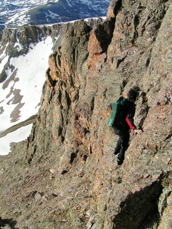 Full on loose cliffs on Half Peak