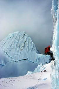 Ice Climbing on Alpamayo Col