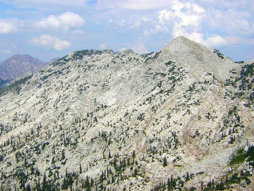 North Thunder (left) & South Thunder Mountains from Bighorn Peak