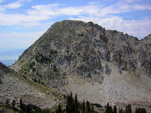 Bighorn Peak from upper Bells Canyon