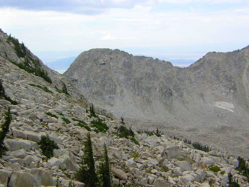 Bighorn & West ridge from North side of South Thunder Mountain