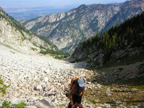 Approaching saddle at top of Coalpit Gulch